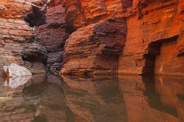 Rock wall reflections in Karijini NP, Western Australia