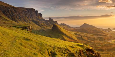Sunrise at Quiraing, Isle of Skye, Scotland Wall mural