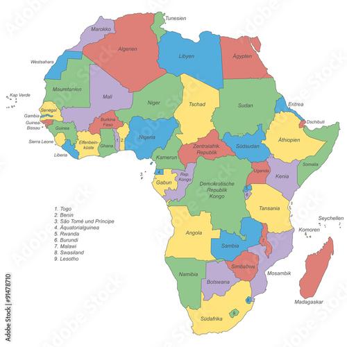 politische karte afrika Afrika   politische Karte (beschriftet)