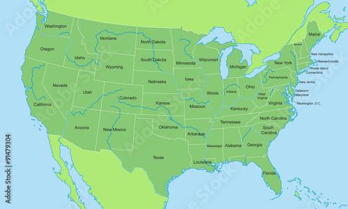 Karte Usa.Usa Karte In Grun Stock Image And Royalty Free Vector