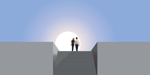 Paysage Couple Mur Liberte