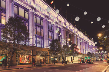 2014-2015 Oxford Street, London, decorated for Christmas