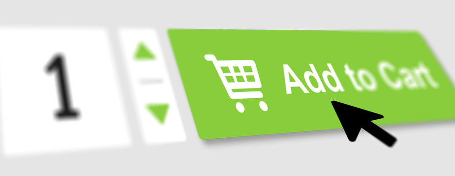 Add to cart button and cursor click