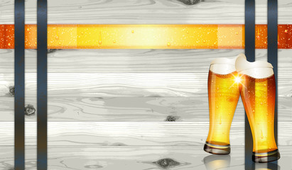 Oktoberfest background(Beer and Barrel)