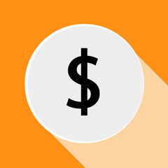 Money icon - dollar sign. Vector illustration. Eps 10