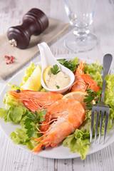 shrimp and sauce