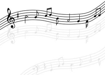 音符 五線譜 背景素材