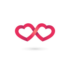 Heart infinity loop logo icon design template elements