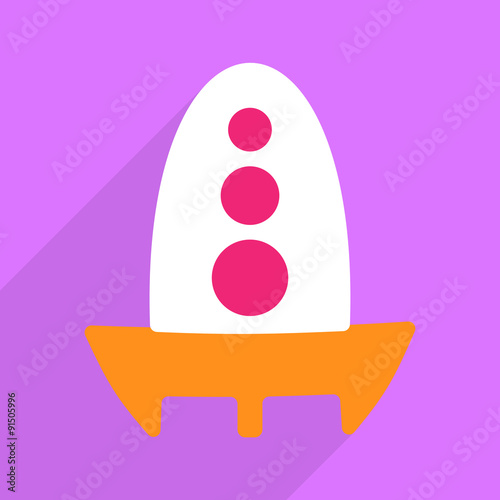 Web icons modern design for mobile shadow, rocket