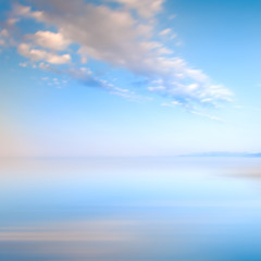Blue sky with clouds on the sea landscape