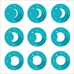 Moon phases set