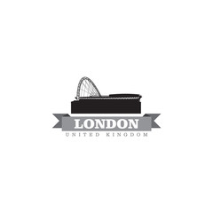 London United Kingdom city symbol vector illustration