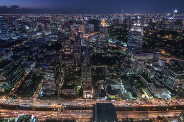 Fototapete - Bangkok twilight