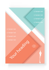 Template of design of the brochure, flyer.