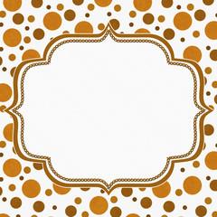 Orange and White Polka Dot Frame Background