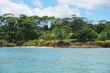 Wild tropical coastline of Panama Central America