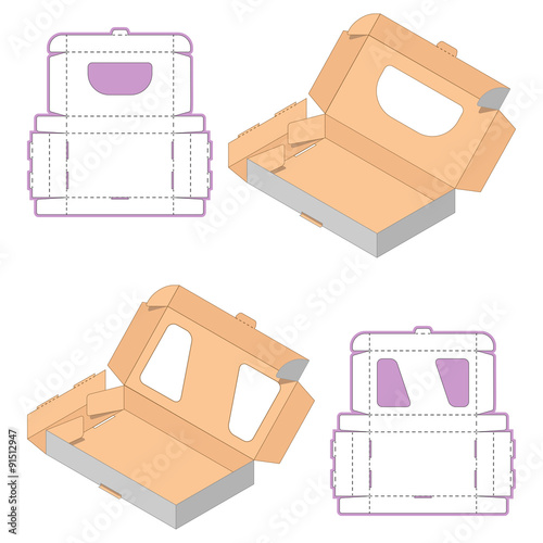 Gift Box Packaging Template Set Of Rectangle Box Design Container