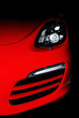 Detail of a beautiful red sportcar.