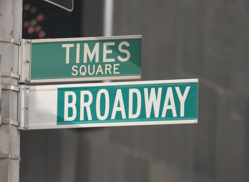 Times Square and Broadway Street Signs