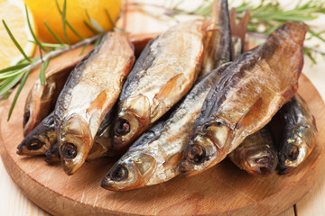 Smoked or dried fish