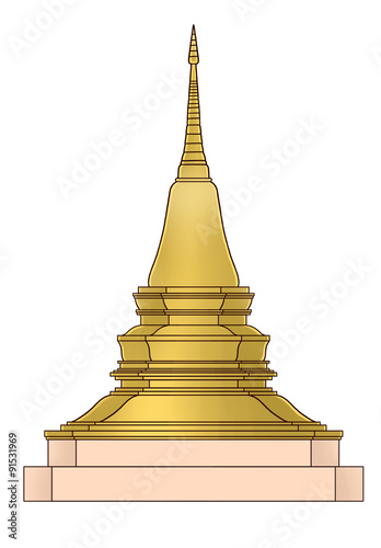 Zedi is a Thai stupa In Buddhism believe when they took a die bones