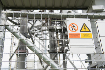 Restricted area with high voltage.