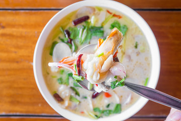 Tom Kha Talay (Thai Seafood Coconut Soup)