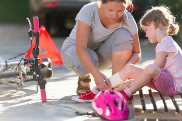 child after bicycle accident