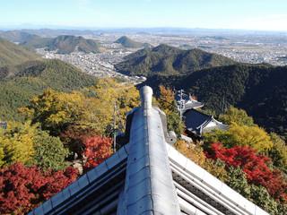 岐阜城からの眺望(秋)