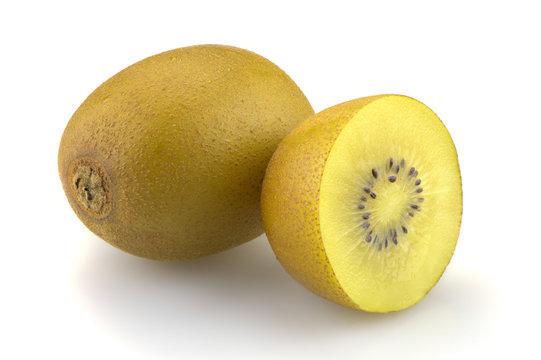 Kiwi sungold on white background