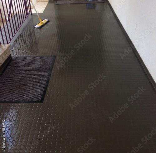 how to make floors less slippery