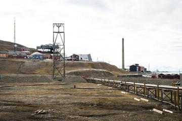 Industrial part of Longyearbyen, Svalbard