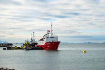 Ship in Svalbard port