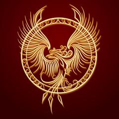 Phoenix Emblem in Circle