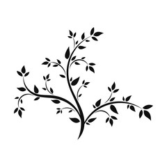 Abstract illustration - silhouette of a young tree