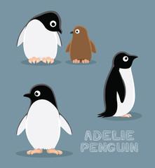 Adelie Penguin Cartoon Vector Illustration