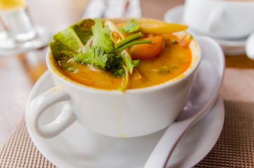 Shrimp and Lemongrass Soup or Tom Yum Soup