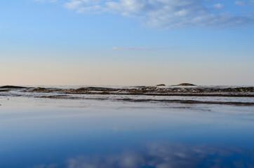 Reflect of blue sky