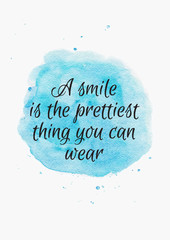 Inspiring Quote on Watercolor Background