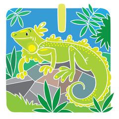 Little iguana. Alphabet I