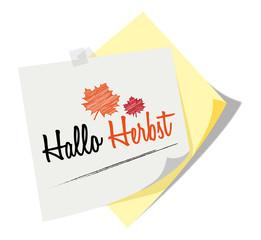 Post it | Notizzettel | Hallo Herbst