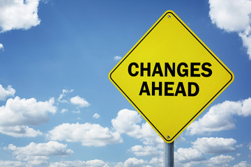 Changes ahead road sign