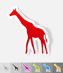 realistic design element. giraffe