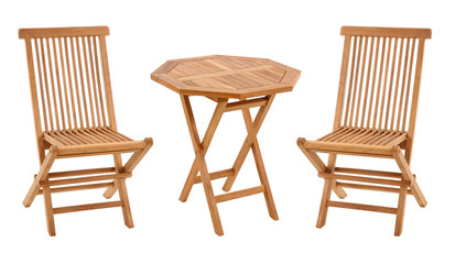 teak table and chairs, garden furniture