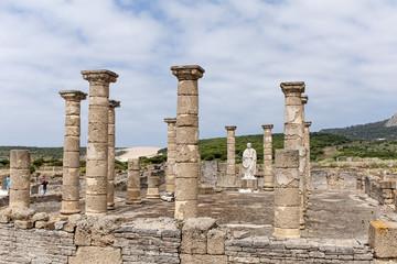 restos arqueológicos de la antigua ciudad Romana de Baelo Claudia en Tarifa, Cádiz, Andalucía