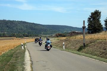 Fototapete - Motorradfahrer