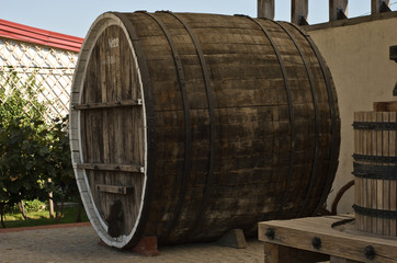 Large Wooden Wine Barrel