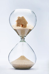 Hourglass house mortgage concept