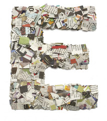 newspaper latter E