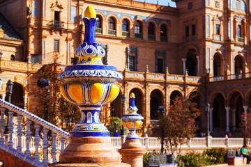 Plaza de Espana at Seville.  Spain